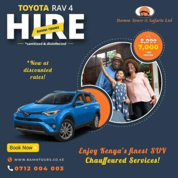 rav4 vanguard for hire nairobi