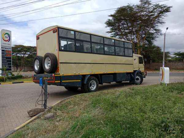 Overland tour bus for hire Nairobi