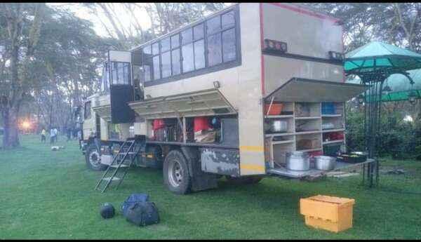 Overland truck in Kenya